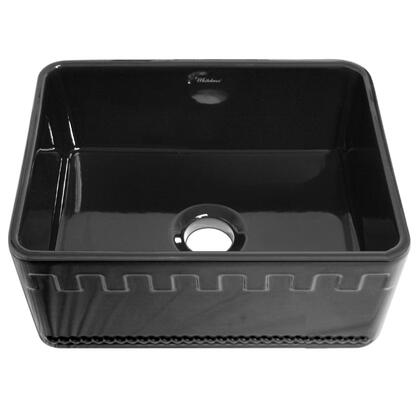 Whitehaus WHFLATN2418BLACK Black Kitchen Sink
