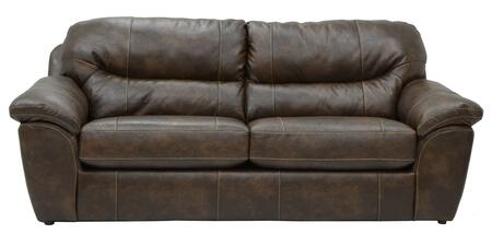 """Jackson Furniture Brantley Collection 4430-04- 95"""" Queen Sleeper with Pillow Top Arms, Bonded Leather Upholstery and Luggage Stitching in"""