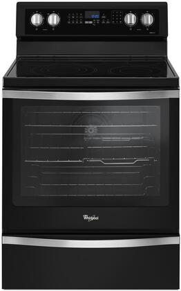 """Whirlpool WFE745H0F 30"""" Freestanding Electric Range with 6.4 Cu. Ft. Oven Capacity, True Convection, Frozen Bake Technology, Hidden Bake-Element, and AquaLift Self-Cleaning Technology, in"""