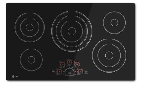 "LG LCE3610SB 36""  Electric Cooktop, in Black"