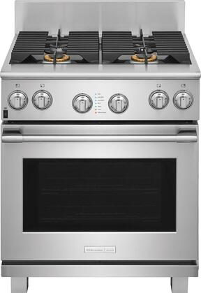 Electrolux Icon ExDF74TPS Pro Style Dual Fuel Range with 4 Burners, CustomConvect Convection, Smooth-Glide Oven Racks, in Stainless Steel