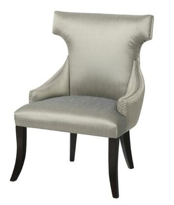 Gail's Accents 92009CHR Winmark Series Armchair Fabric Wood Frame Accent Chair in Silver|Appliances Connection