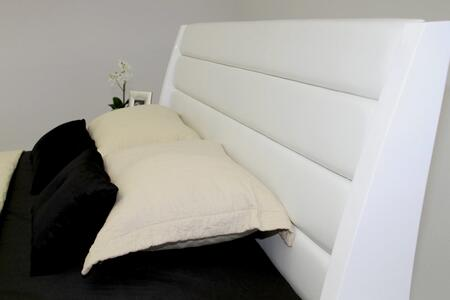 VIG Furniture VGWCSG-B01-WHT Modrest Volterra - Contemporary Floating White Bed With Lights