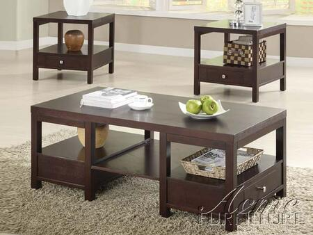 "Acme Furniture 18460 48"" Contemporary Living Room Table Set"
