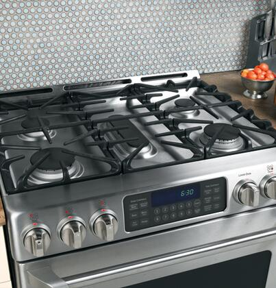 ge cafe cgs980semss caf series slidein gas range with sealed burner cooktop 50 cu ft primary oven capacity oven in stainless steel appliances