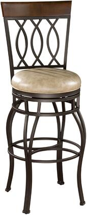 American Heritage 126714PPL192 Residential Leather Upholstered Bar Stool