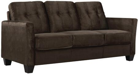 "Glory Furniture 76"" Sofa with Removable Back, Pocketed Coil Seating, Tufted Back, Tapered Legs and Micro Suede Upholstery in"