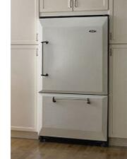 AGA AFHR36WHT Legacy Series Counter Depth Bottom Freezer Refrigerator with 20 cu. ft. Total Capacity 5.5 cu. ft. Freezer Capacity 4 Glass Shelves