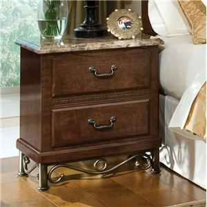 Standard Furniture 56207 Santa Cruz Series  Wood Night Stand