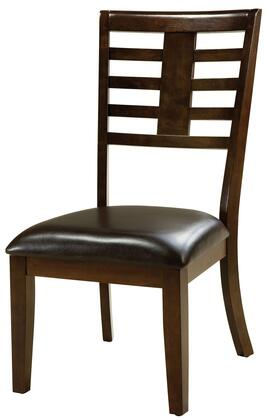 Standard Furniture 16844 Bella Series Traditional Vinyl Wood Frame Dining Room Chair