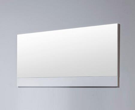 VIG Furniture VGWCCG05MWHT Modrest Ceres Series Rectangular Landscape Dresser Mirror