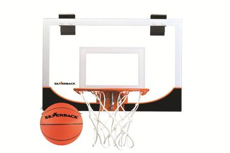 Silverback G0227 Rim and Pro-grade Backboard Mini Indoor Basketball Hoop with Game Quality Silverback Mini Basketball