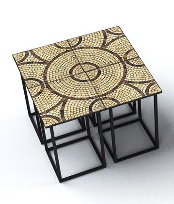 Deeco DM-4451 Saldanha Series Metal Square End Table