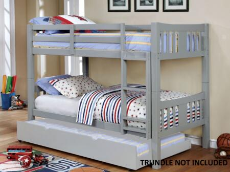 Furniture of America CMBK929GYBED Cameron Series  Twin Size Bunk Bed