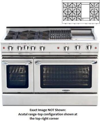 "Capital CGMR484G2N 48"" Culinarian Series Natural Gas Freestanding"