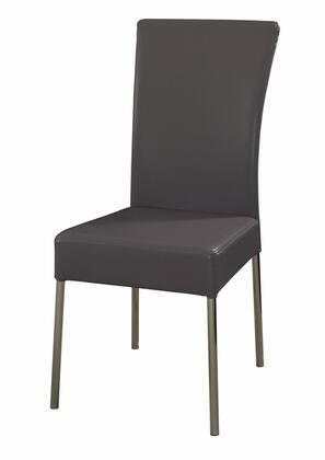 Powell 433494 Modern Fabric Metal Frame Dining Room Chair