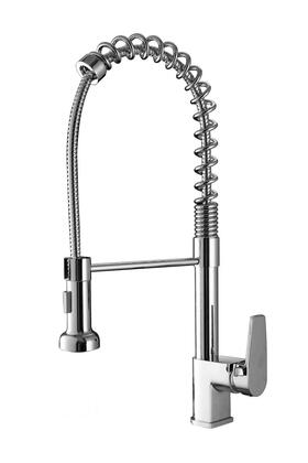 Ruvati RVF1216 Commercial Style Pullout Spray Kitchen Faucet - Polished Chrome