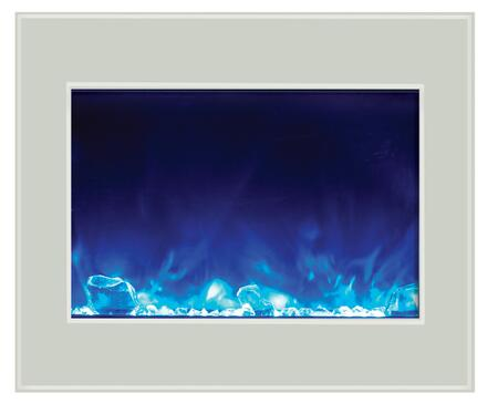 Amantii ZECL394134WHTGLS Zero Clearance Series  Electric Fireplace