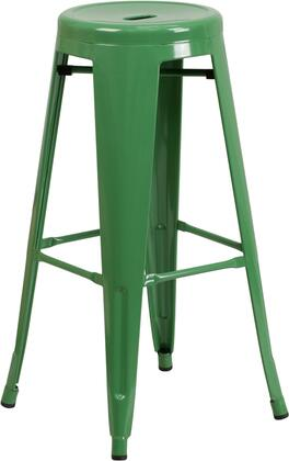 """Flash Furniture 30"""" Counter Height Bar Stool with Footrest, Lightweight Design, Backless, Powder Coat Finish and Galvanized Steel Construction in"""