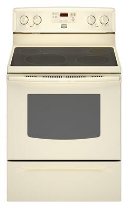 Maytag MER7662WQ  Electric Freestanding Range with Smoothtop Cooktop, 5.3 cu. ft. Primary Oven Capacity, Storage in Bisque