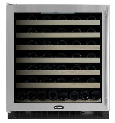 "Marvel 8SWCEBSGLX 30"" 68 Bottle Capacity Wine Cellar With Incandescent Interior Display Lighting, Cool Blue LED Temperature Control Display & In Stainless Steel Frame"