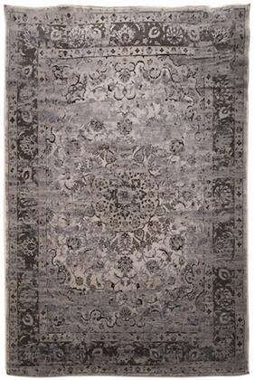 "Signature Design by Ashley Kyan R40172 "" x "" Size Rug with Persian Design, Machine-Tufted, 13mm Pile Height, Spot Clean Only and Polypropylene Material in Blue and Ivory Color"