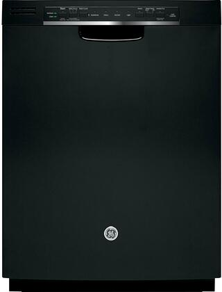 """GE GDF520PGDBB 24"""" Built In Full Console Dishwasher with 16 Place Settings Place Settingin Black"""