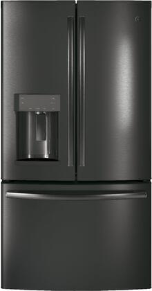 """GE GYE22H 36"""" Energy Star Rated Counter-Depth French Door Refrigerator with 22.2 cu. ft. Total Capacity, TwinChill Evaporators, Advanced Water Filtration, Turbo Cool and Freeze Settings, and Automatic Defrost, in"""