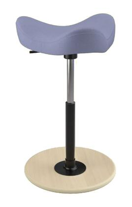 """Varier MOVE 2600 DINIMICA 19"""" - 27"""" Sit-Stand Chair with Dinimica Upholstery,"""