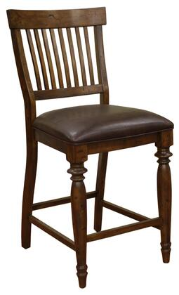 American Heritage 126871ANBI Delphina Series Traditional Vinyl Wood Frame Dining Room Chair