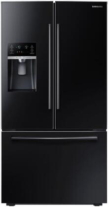 "Samsung RF23HCEDB 36"" Wide Counter Depth French Door Refrigerator with 23 Cu. Ft. Capacity, Twin Cooling Plus, CoolSelect Pantry, High-Efficiency LED Lighting, and EZ-Open Handle:"