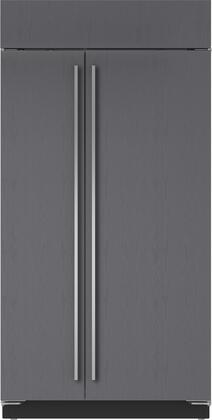 """Sub-Zero BI42SIDS 42"""" Built-In Side-by-Side Refrigerator with 23.7 cu. ft. Total Capacity, Water Filtration System, Automatic Ice Maker, Internal Ice and Water Dispenser, and Air Purification System, in"""