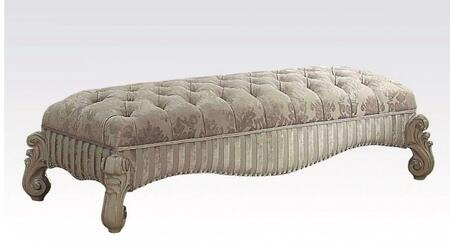 Acme Furniture 96540 Versailles Series Accent Armless Wood Fabric Bench