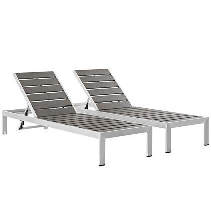 "Modway EEI2467SLVGRYSET 76"" Lounge Chair"