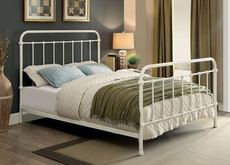 Furniture of America CM7701WHCK Iria Series  California King Size Bed