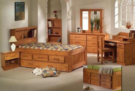 Donco 1020  Twin Size Captains Bed