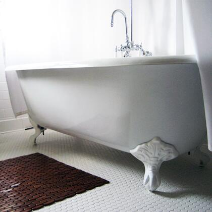 """Cambridge DE677DH Cast Iron Double Ended Clawfoot Tub 67"""" x 30"""" with 7"""" Deck Mount Faucet Drillings"""