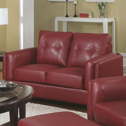 Coaster 504472 Sawyer Series Bonded Leather Stationary with Wood Frame Loveseat