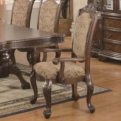 Coaster 103113 Andrea Series Traditional Fabric Wood Frame Dining Room Chair