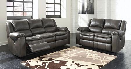 Milo Italia MI6165PSET2PCGRY Luciano Living Room Sets