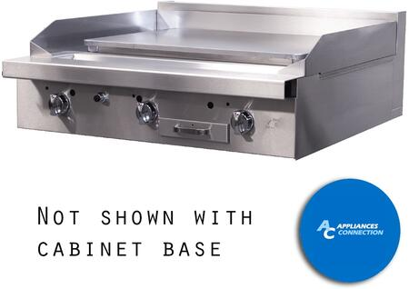 """Southbend P36PPP Platinum Series 36"""" Griddle with Three Standard Burners and Plancha Plate, Up to 48000 BTUs (NG)/46500 BTUs (LP)"""