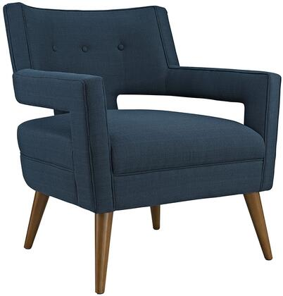 Modway EEI2142AZU Sheer Series Azure Polyester Armchair with Wood Frame