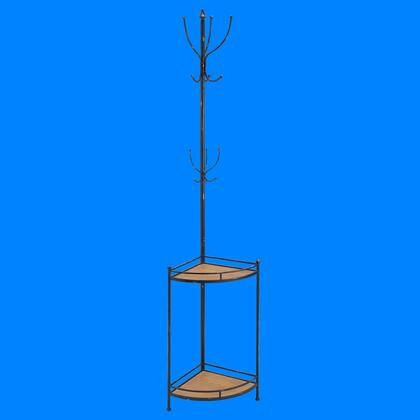 Linon AHW806AS1 Corner Metal and Wood Coat Rack Blue