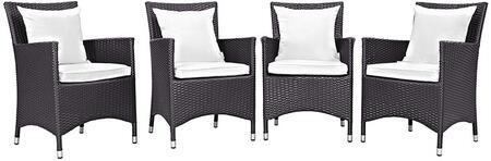 Modway EEI2190EXPWHISET Convene Series  Aluminum Frame  Patio Arm Chair