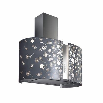 Futuro Futuro ISMURMOONLIGHT Murano Moonlight Island Mount Chimney Style Range Hood with Halogen Lights, 940 CFM Internal Blower, Dishwasher-safe Mesh Filter, and Delay Shut-Off Timer, in Stainless Steel