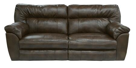"Catnapper Nolan Collection 4041- 90"" Extra Wide Reclining Sofa with Valentino Bonded Leather, Designer Luggage Stitching and Pillow Top Arms in"