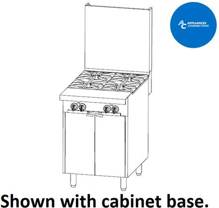 "Southbend P24BB Platinum Series 24"" Sectional Open-Top Range with Stainless Steel Construction and Four Standard Non-Clogging Burners, Up to 140000 BTUs"