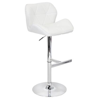 "LumiSource Jubilee BS-TW-JUBL 39"" - 46"" Barstool with 360-Degree Swivel, Bucket Seat and Stitched Detailing in"