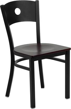 Flash Furniture XUDG60119CIRMAHWGG Hercules Series Contemporary Not Upholstered Metal Frame Dining Room Chair