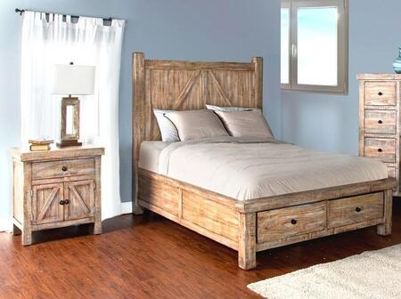 Sunny Designs 2307WBSQBBEDROOMSET Durango Queen Bedroom Sets